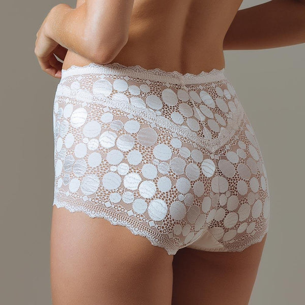Women's High Waist Pearly Polka Dot Panties
