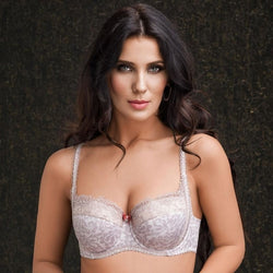 Padded Lace Trim Balcony Bra