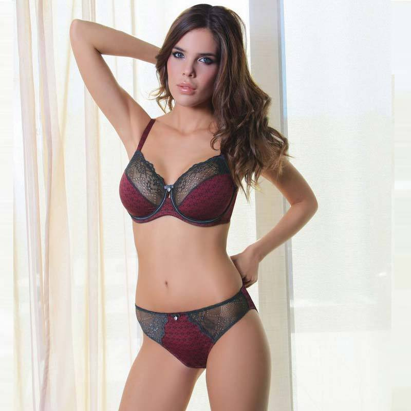 Women Semi Sheer Full Cup Unlined Bra