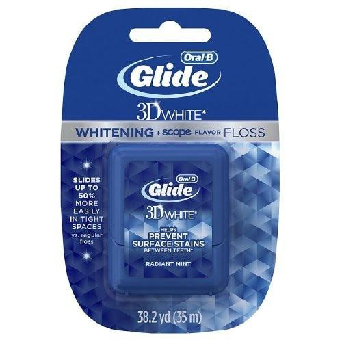 Oral-B Glide 3D White Floss + Scope Radiant Mint Flavor
