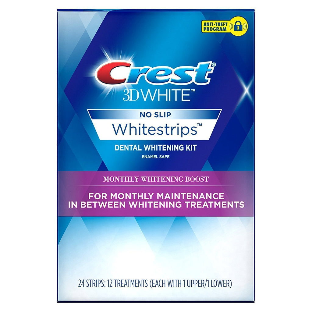 Crest 3D White Monthly Whitening Boost Dental Kit 24 Strips - Crest Whitestrips United Kingdom