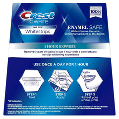 Crest 3D Whitestrips 1 HOUR Express Teeth Whitening 14 Strips - Crest Whitestrips United Kingdom