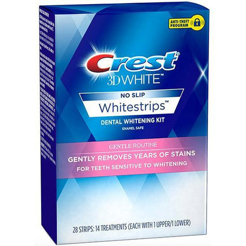 Crest 3D Whitestrips Gentle Routine Teeth Whitening Treatment