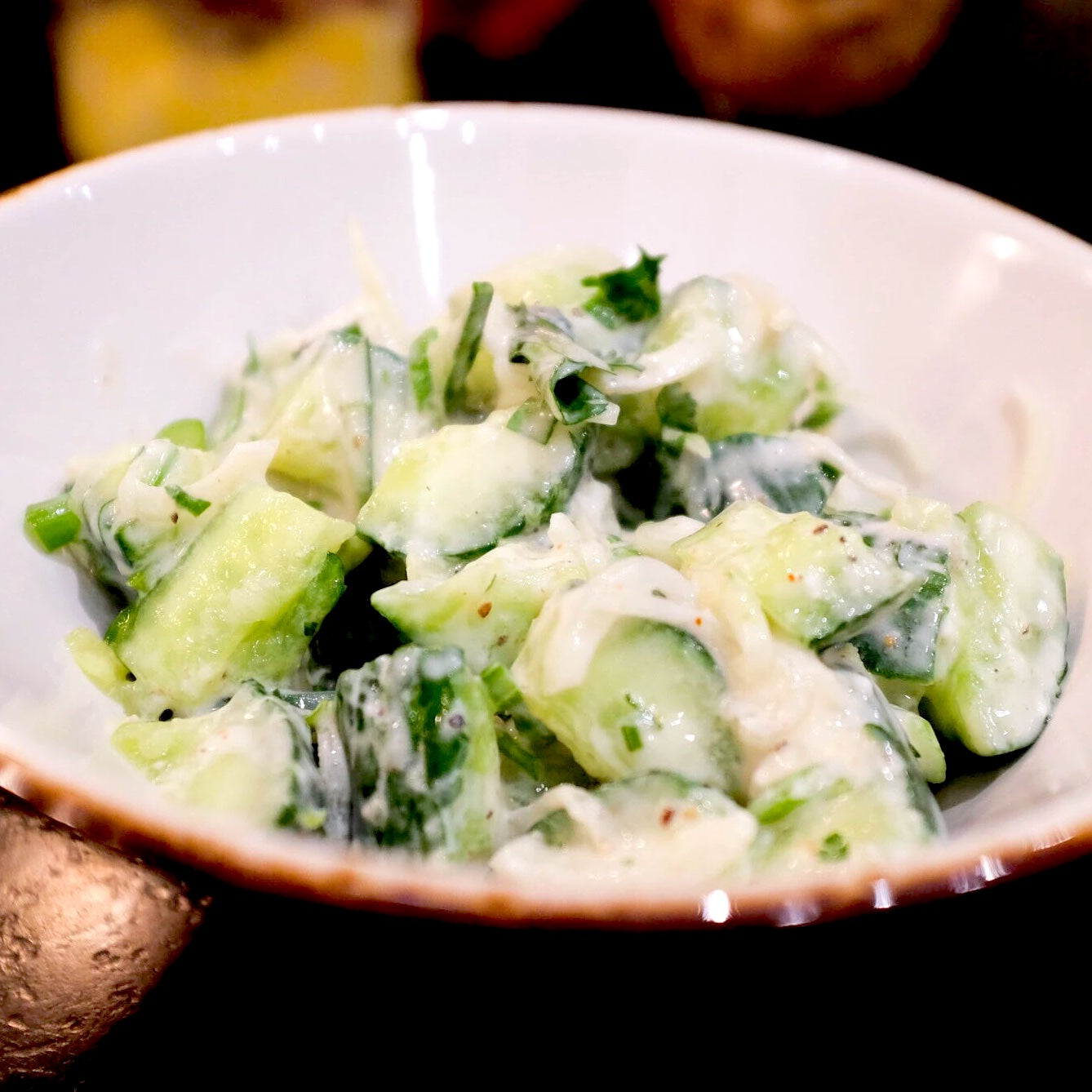 Crushed Cucumber Raita