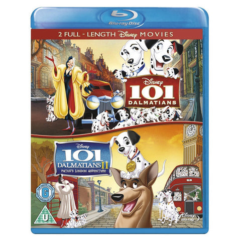 101 DALMATIANS I and II blu-ray front cover