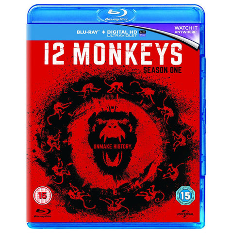 12 MONKEYS SEASON ONE blu ray front cover