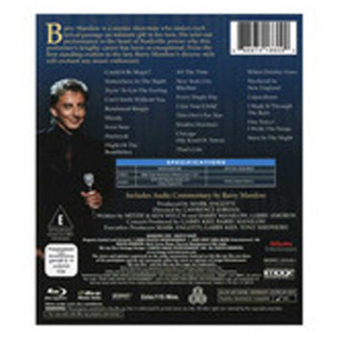 MANILOW LIVE blu-ray back cover