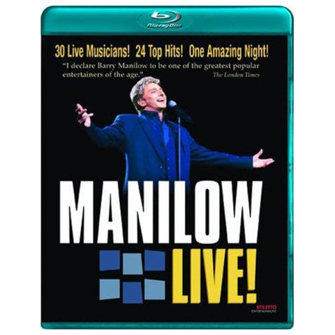 MANILOW LIVE blu-ray front cover