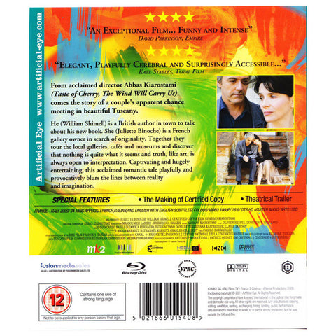 CERTIFIED COPY blu-ray back cover