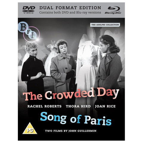 THE CROWDED DAY/SONG OF PARIS blu-ray front cover