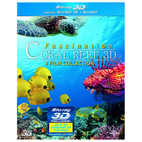FASCINATION CORAL REEF 3D: 3-FILM COLLECTION blu-ray front cover