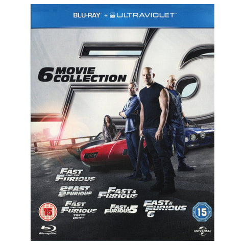 FAST & FURIOUS: 6 MOVIE COLLECTION blu-ray front cover