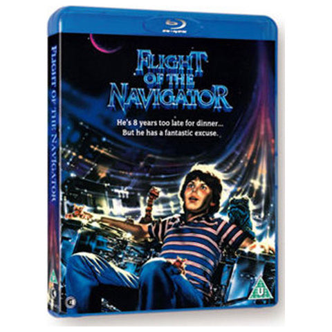 FLIGHT OF THE NAVIGATOR blu-ray front cover