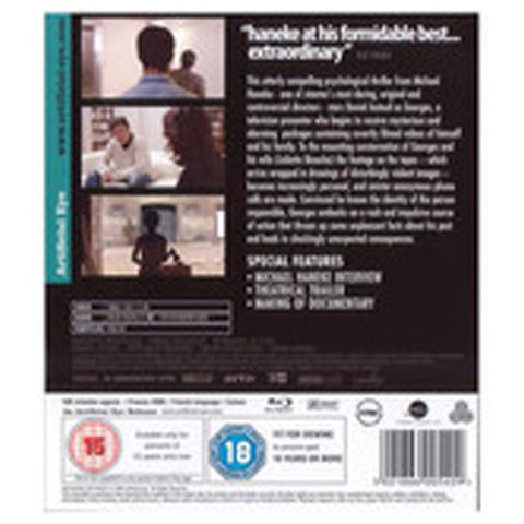 HIDDEN blu-ray back cover