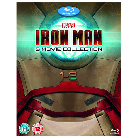 IRON MAN 1-3 COMPLETE COLLECTION blu-ray front cover