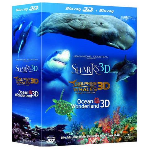 JEAN-MICHEL COUSTEAU'S FILM TRILOGY 3D blu-ray front cover