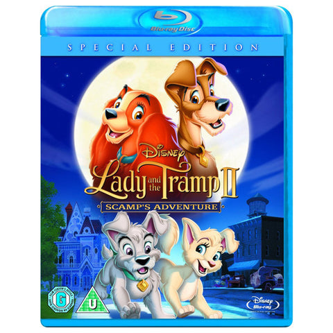 LADY AND THE TRAMP/LADY AND THE TRAMP II: SCAMPS ADVENTURE blu-ray front cover
