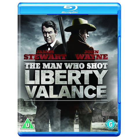 THE MAN WHO SHOT LIBERTY VALANCE blu-ray front cover