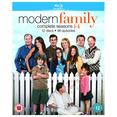 MODERN FAMILY: THE COMPLETE SEASON 1-4 blu-ray front cover