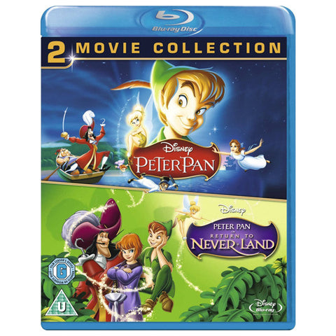 PETER PAN/RETURN TO NEVER LAND blu-ray front cover