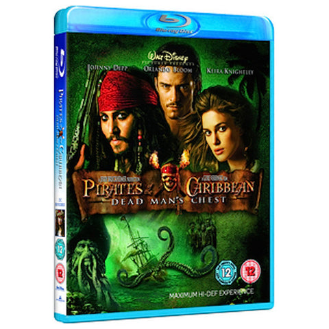 PIRATES OF THE CARIBBEAN: DEAD MAN'S CHEST blu-ray front cover