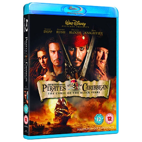 PIRATES OF THE CARIBBEAN: THE CURSE OF THE BLACK PEARL blu-ray front cover