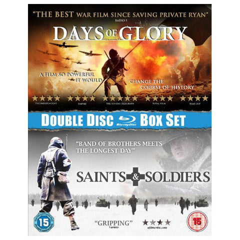 SAINTS AND SOLDIERS/DAYS OF GLORY BOX SET blu-ray front cover