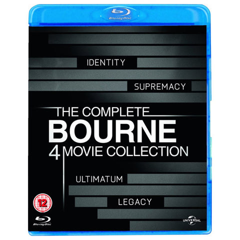 THE COMPLETE BOURNE: 4 MOVIE COLLECTION blu-ray front cover