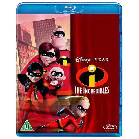THE INCREDIBLES blu-ray front cover