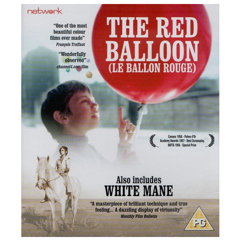 THE RED BALLOON/ THE WHITE MANE blu-ray front cover