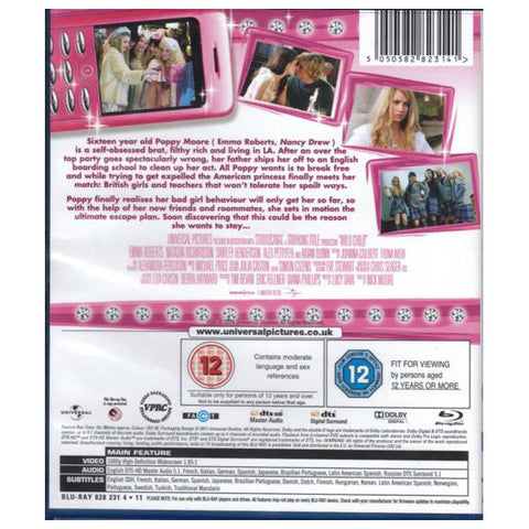 WILD CHILD blu-ray back cover