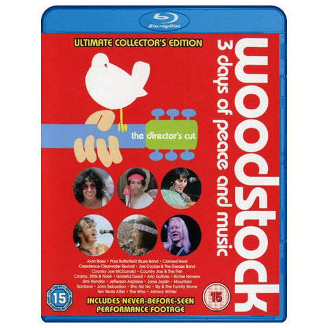 WOODSTOCK: 3 DAYS OF PEACE AND MUSIC blu-ray front cover