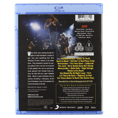 AC/DC: LIVE IN DONNINGTON blu-ray back cover