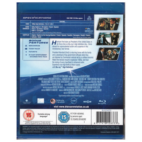 AIR FORCE ONE blu-ray back cover