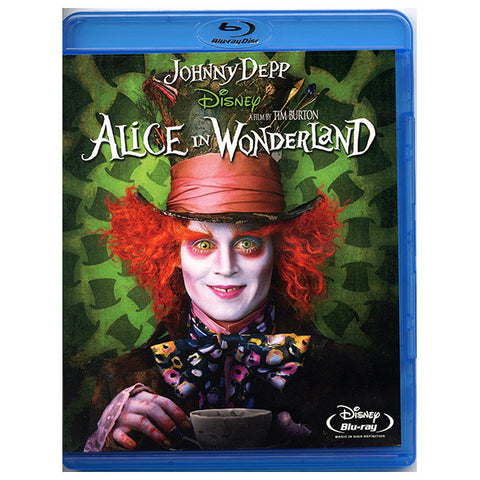 ALICE IN WONDERLAND blu-ray front cover
