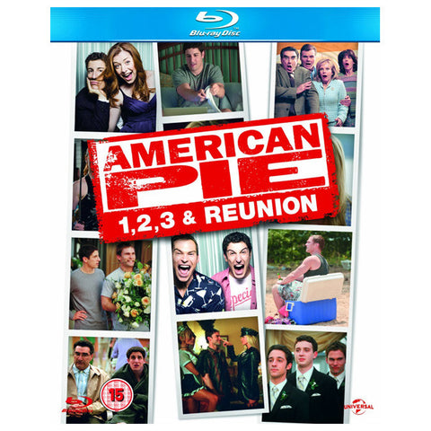 AMERICAN PIE 1,2,3 & 4 blu-ray front cover