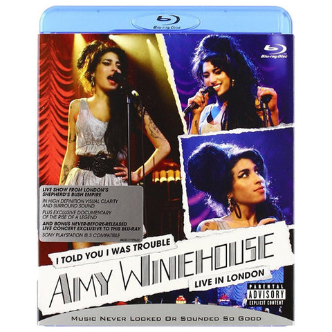 AMY WINEHOUSE - I TOLD YOU I WAS TROUBLE blu-ray front cover