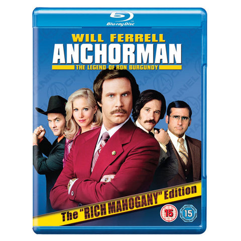 ANCHORMAN: THE LEGEND OF RON BURGUNDY(EXTENDED CUT) blu-ray front cover