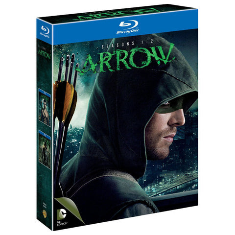 Arrow Seasons 1 & 2 blu-ray front cover