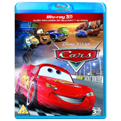 Cars 3D blu-ray front cover