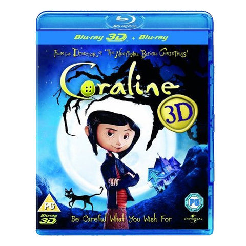 CORALINE 3D blu-ray front cover
