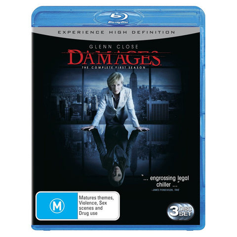 DAMAGES: THE COMPLETE FIRST SEASON blu-ray front cover