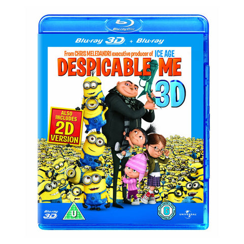 DESPICABLE ME 3D blu-ray front cover