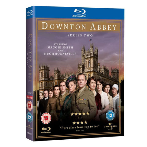 DOWNTOWN ABBEY: SERIES TWO blu-ray front cover