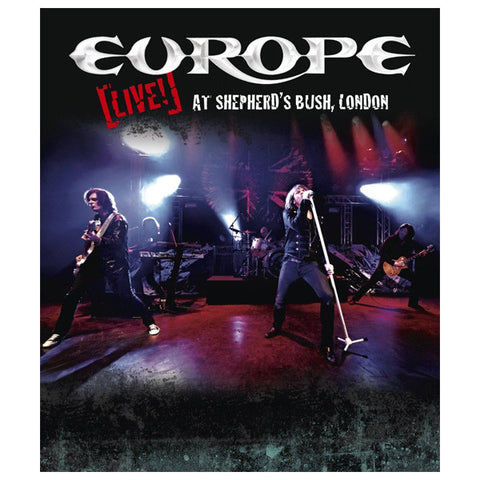 EUROPE: LIVE AT SHEPERD'S BUSH, LONDON blu-ray front cover