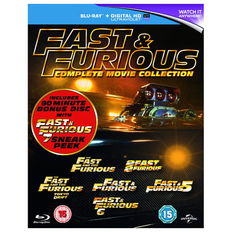 fast & furious: 1-6 front cover