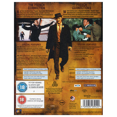 THE FRENCH CONNECTION 1&2 back cover