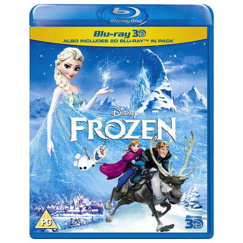 Frozen 3D blu-ray front cover