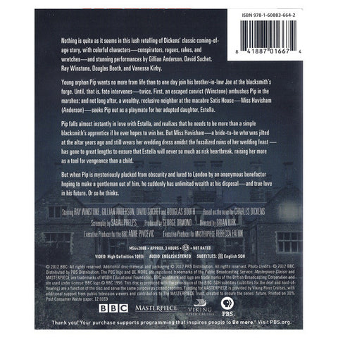 GREAT EXPECTATIONS blu-ray back cover