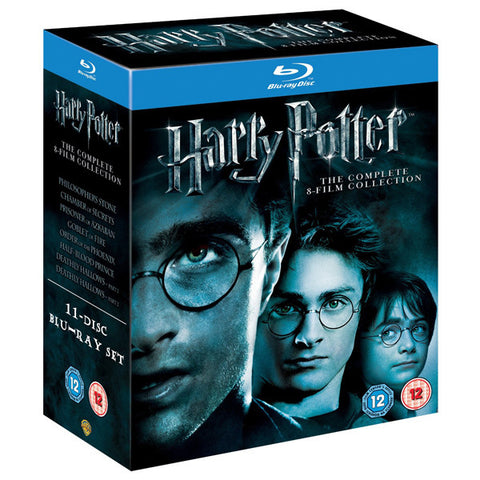 HARRY POTTER: THE COMPLETE 8-FILM COLLECTION blu-ray front cover